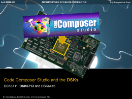 Chapter 3 - Code Composer Studio and the DSK