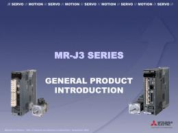 MR-J3 - General introduction presentation