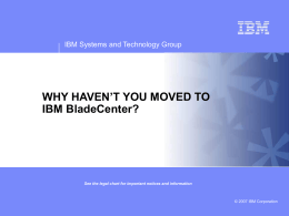 XSW20 IBM BladeCenter