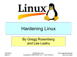 Hardening Linux - UniForum Chicago