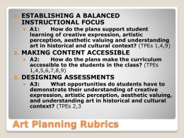 Planning Rubrics