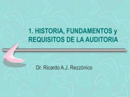 1. HISTORIA, FUNDAMENTOS y REQUISITOS DE LA …