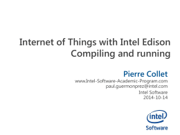 Internet of Things with Intel EdisonCompiling and running