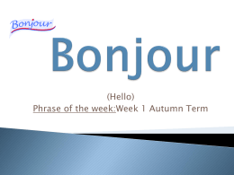 French Phrases of the Week