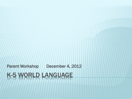 K-5 world language - | Tokeneke Library