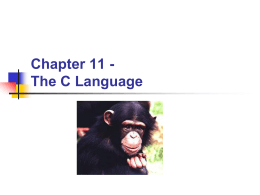Chapter 11 - The C Language