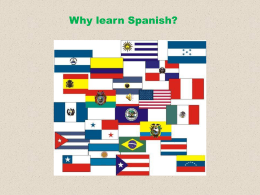 Why learn Spanish? POWERPOINT