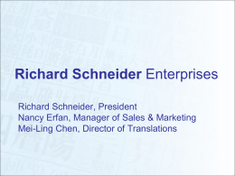 Richard Schneider Enterprises
