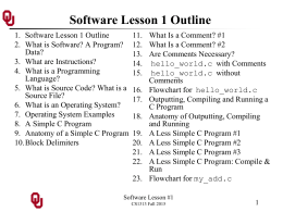 CS1313 Software Lesson 1