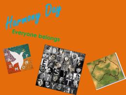 Harmony Day - Wikispaces