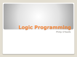 Logic Programming - Memorial University of Newfoundland