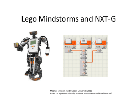 Lego Mindstorms and NXT-G