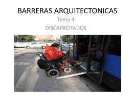 BARRERAS ARQUITECTONICAS
