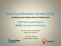 HL7 SOA - Care Collaboration Services