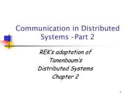 CS4513 Distributed Computing Systems