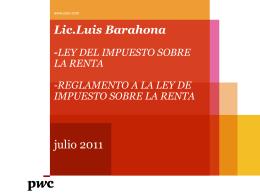 Lic.Luis Barahona-LEY DEL IMPUESTO SOBRE LA RENTA