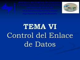 TEMA VII Control del Enlace de Datos