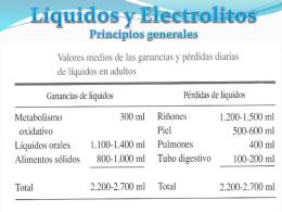TRASTORNOS DEL EQUILIBRIO HIDROELECTROLITICO