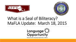 What is a Seal of Biliteracy?