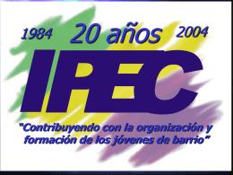 LA PROMOCION DEL IPEC