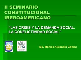 II SEMINARIO CONSTITUCIONAL IBEROAMERICANO