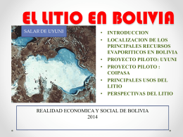 el litio en Bolivia
