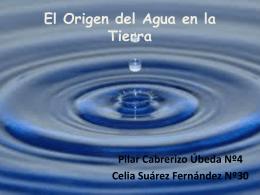 El Origen del Agua en la Tierra