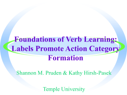On the Path to Verb Learning