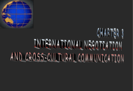 CHAPTER 3 INTERNATIONAL NEGOTIATION AND CROSS …