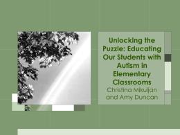 History of Autism - ePortfolio Home Page