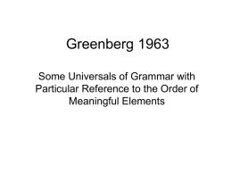 Greenberg 1963 - uni
