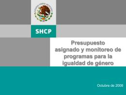 Presupuestos etiquetados y monitoreo de programas …