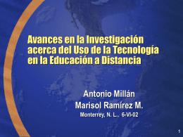 Programas educativos por Internet del Tec de Monterrey