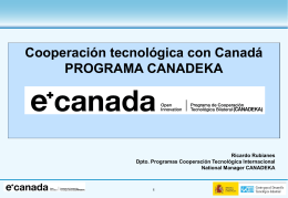 Programas internacionales I+D
