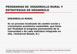 PROGRAMAS DE DESARROLLO RURAL Y ESTRATEGIAS …