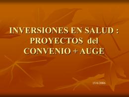 INVERSIONES EN SALUD : PROYECTOS + PROGRAMAS + …