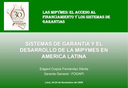 FOGAPI Y LOS PROGRAMAS SOCIALES EN EL PERU