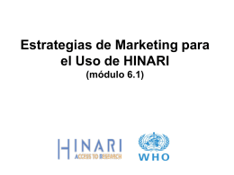 Marketing for health libraries and information organizations
