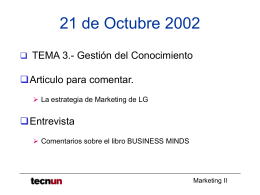 MARKETING II - Home. Tecnun. Universidad de Navarra