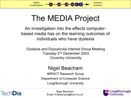 The MEDIA Project - Loughborough University