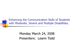 Enhancing the Communication Skills of Students with