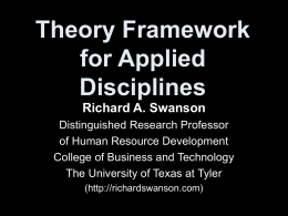 Theory Framework for Applied Disciplines