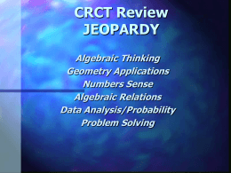 Chapter 11 Review JEOPARDY