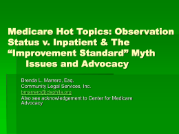 Medicare Appeals: An Overview of Issues and Advocacy
