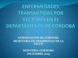 ENFERMEDADES TRANSMITIDAS POR VECTORES EN EL …