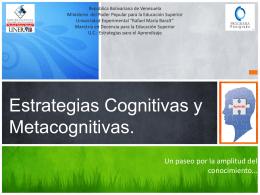 Estrategias Cognitivas y Metacognitivas.