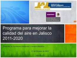 Programa para mejorar la calidad del aire en Jalisco 2011 …