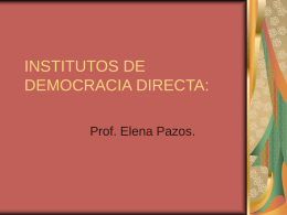 INSTITUTOS DE DEMOCRACIA DIRECTA: