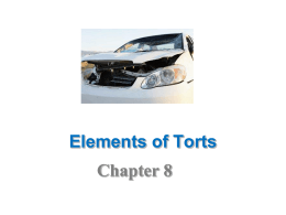 Business & Law of Torts