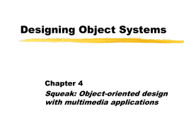 Designing Object Systems